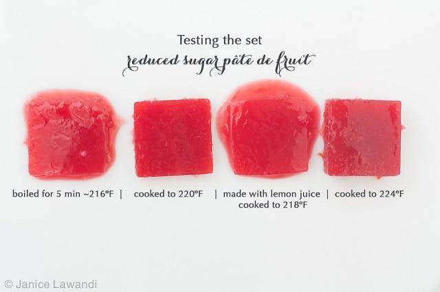 low sugar pate de fruits