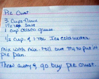 Pate Brisee: Oooh, Your Pie Crust!  It's So….Wee!