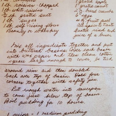 When History, Family and Dessert Collide: Auntie Ev's Plum Pudding, Part II