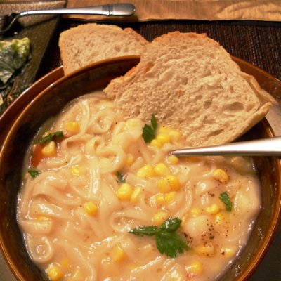 Sunday Suppers:  Carb-Lovers' Cream of Chicken Soup