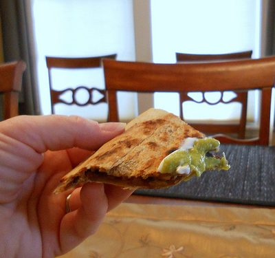 Sunday Suppers Two-fer:  Dinner Quesadillas with Leftovers for Breakfast