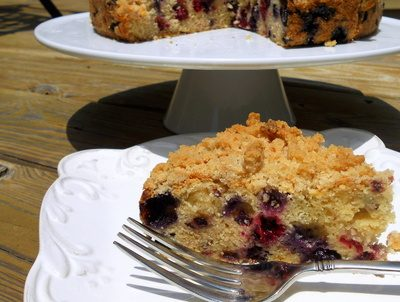 "Food 52sday Recipe Interpretation: ""Peachy"" Black and Blueberry Cake"
