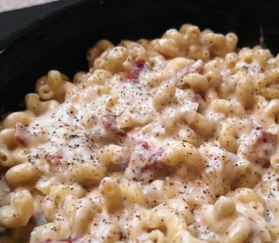 Stove Top Macaroni and Cheese with Goat Cheese and Fontina