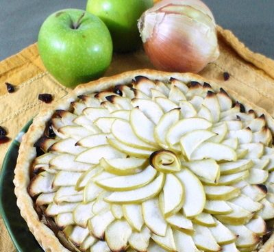Savory Apple Onion Tart or Channeling That Skinny Chick