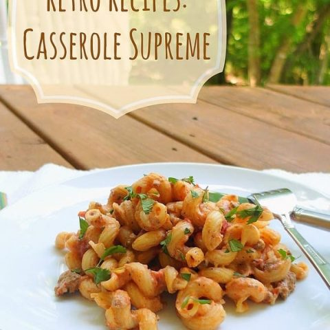Casserole Supreme (hamburger macaroni casserole)