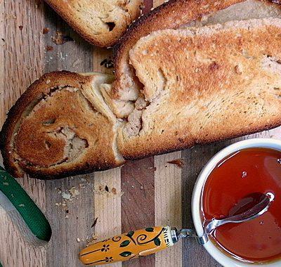 Sweet Challah Bread Recipe with Tahini Swirl