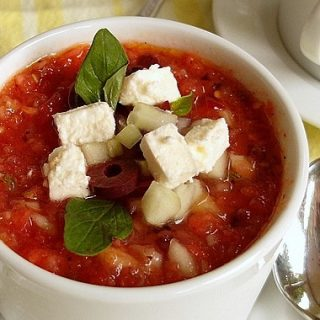 Grilled Vegetable Gazpacho (Greek Style)