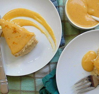 Pumpkin Butter Japanese Cheesecake | Pumpkin-Spiced Tangerine Curd | #tbtfood