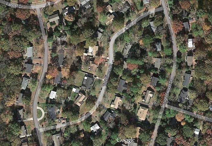 Map view of old neighborhood.