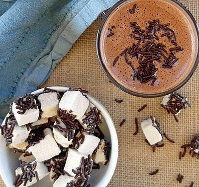 Hot Chocolate Custard with Coffee Marshmallows| Progressive Eats