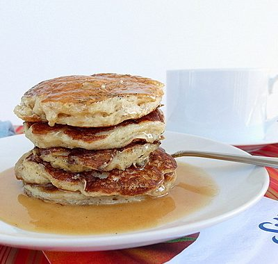Vegan Vanilla Chai Pancakes | Silk Non-Dairy Yogurt Alternative