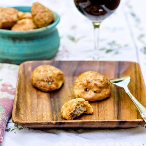 Gougeres with Savory Mushroom Filling