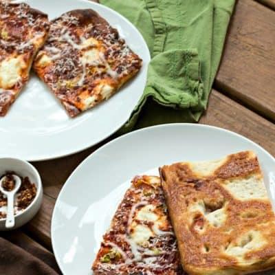 Vodka Sauce Grandma Pizza Recipe | Drunken Grandma Pizza