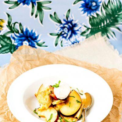 Peach Panzanella Recipe| Dessert Panzanella
