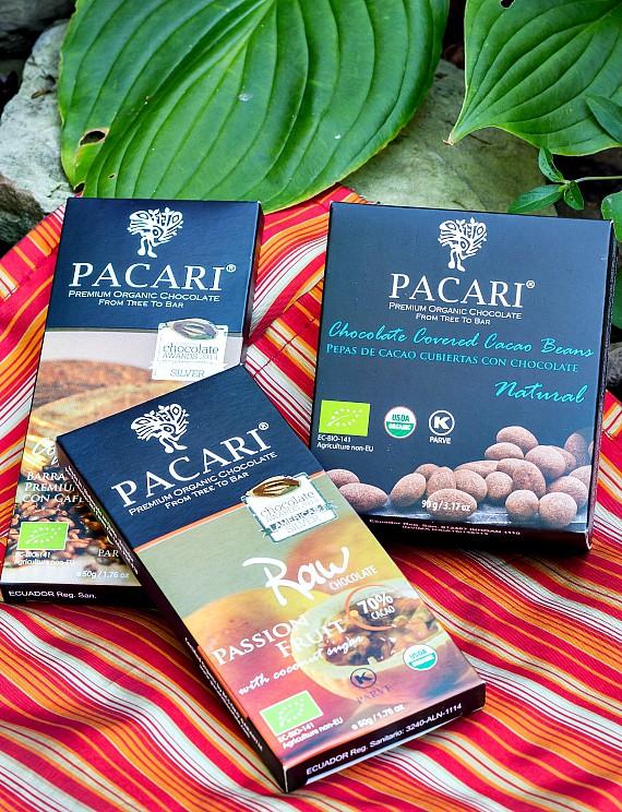 3 bars of Pacari Chocolate: Vegan, Organic, Fair-Trade from Ecuador