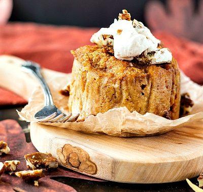 Pumpkin Butterscotch Angel Food Pudding