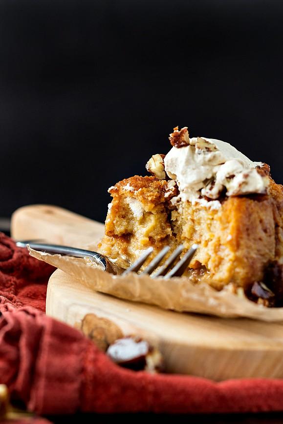 a pumpkin butterscotch angel food pudding-7