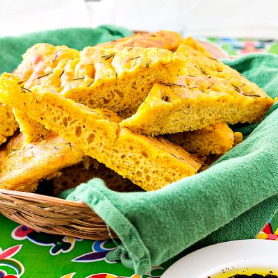 Roasted Pumpkin Focaccia with Herbs | Thanksgiving Focaccia