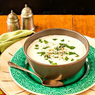 Brown Butter Cauliflower Soup