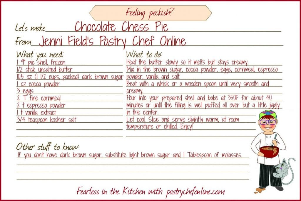 Printable recipe card for this pie.