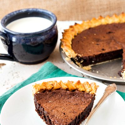 Old-Fashioned Chocolate Chess Pie (no Evaporated Milk)