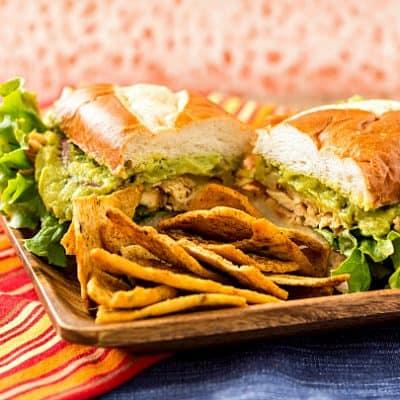 Spicy Chicken Guacamole Sandwich or Sliders