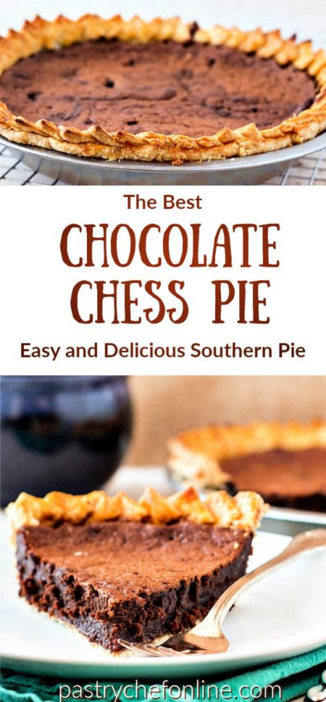 pin image for chocolate chess pie