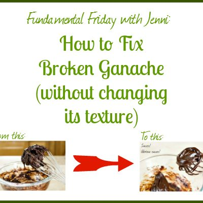 How to Fix Broken Ganache (without changing its texture)
