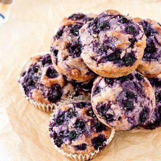 Dairy Free Blueberry Muffins | Gluten-Free Vegan Blueberry Mufins