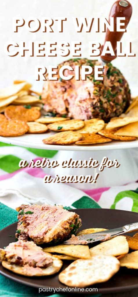 pin image for port wine cheese ball