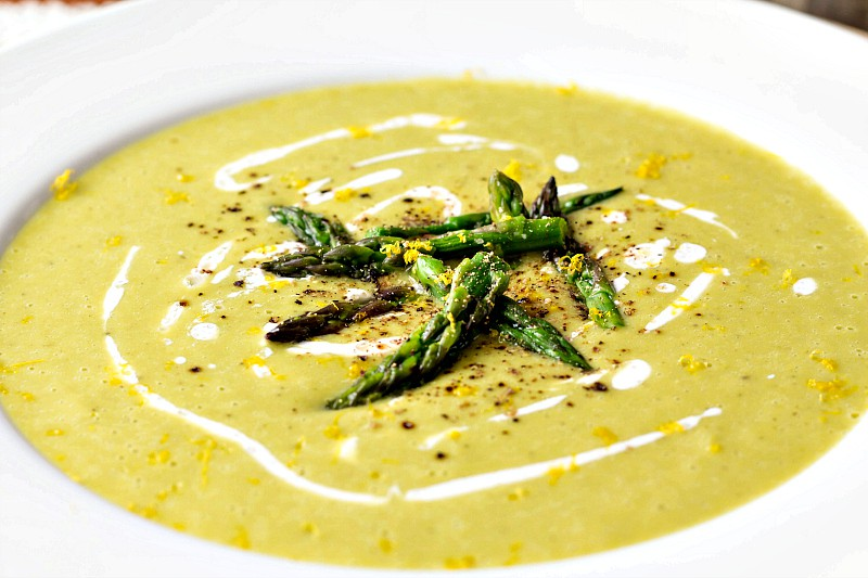 With only 110 calories per cup and 15 grams of net carbs per serving, lemon asparagus soup from the upcoming The Perfect Diabetes Comfort Food Collection by Robyn Webb is a delicious and healthy addition to your diet, whether you have diabetes or not. | pastrychefonline.com