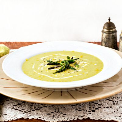 Lemon Asparagus Soup from The Perfect Diabetes Comfort Food Collection