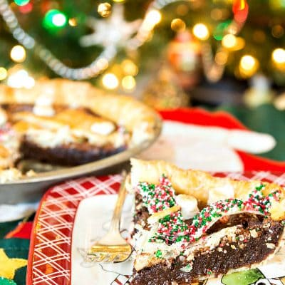 Mexican Hot Chocolate Pie | Christmas Pie with Snowman Crust