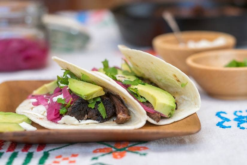 Chile-Braised Short Rib Tacos from Nourish and Nestle