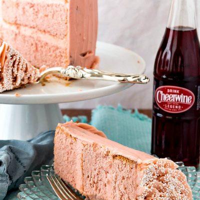 Cheerwine Cake with Easy Cheerwine Marshmallow Buttercream