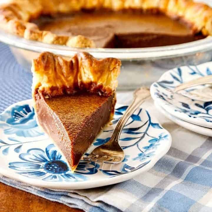 Chocolate Caramel Buttermilk Pie