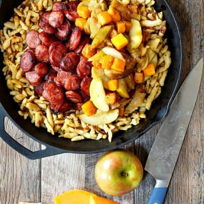 Polish Sausage with Apples, Onions, and Butternut | 1-Pan Farmers Market Meal