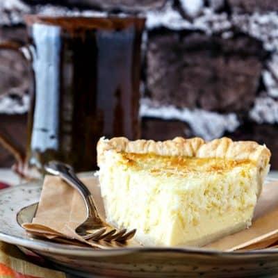 Traditional Coconut Custard Pie | Old School Comfort Pie