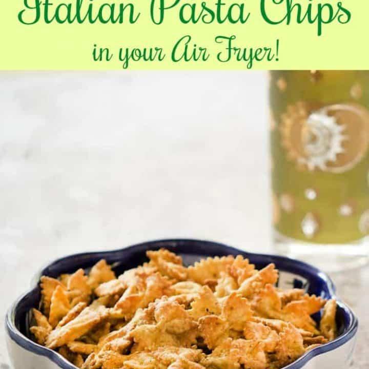 easy vegan pasta chips