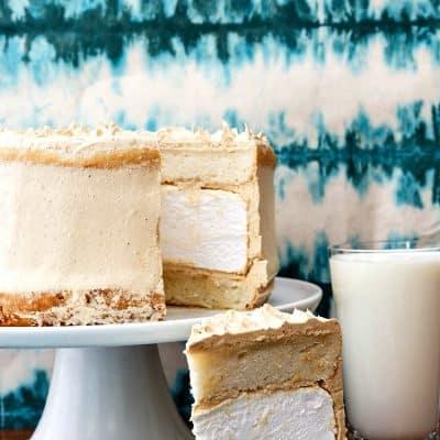 Peanut Butter Marshmallow Cake | The Fluffernutter Cake