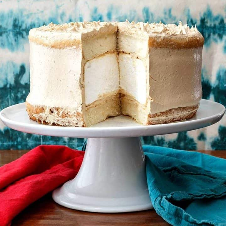 Peanut Butter Marshmallow Cake (Fluffernutter Cake)