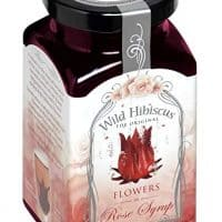 Hibiscus Flowers in Rose Syrup