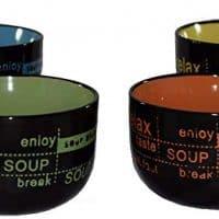 4 Mug Set with Soup Spoons