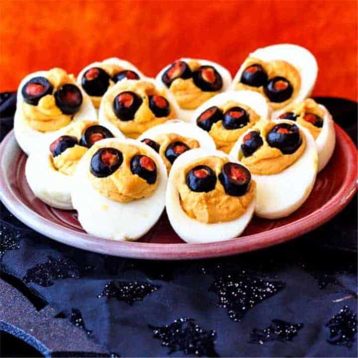 Devilish Halloween Deviled Eggs