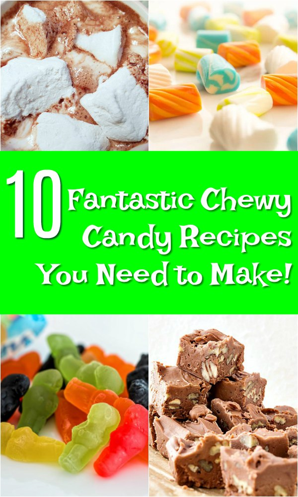 chewy candy recipes pin image