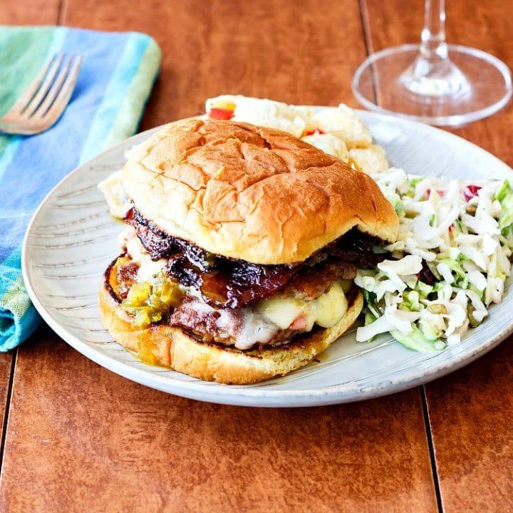 BBQ Bacon Double Cheeseburger Recipe