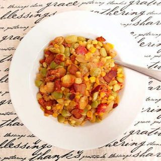 spicy succotash on a plate