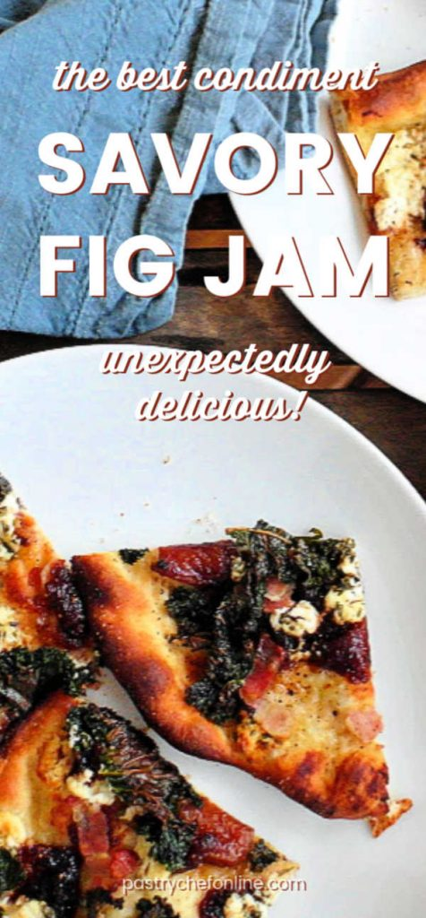 vertical pin image for savory fig jam