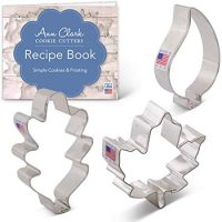 3-Piece Fall Leaves Cookie Cutter Set