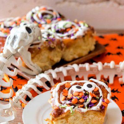 Pumpkin Spice Cinnamon Rolls for Your Halloween Breakfast